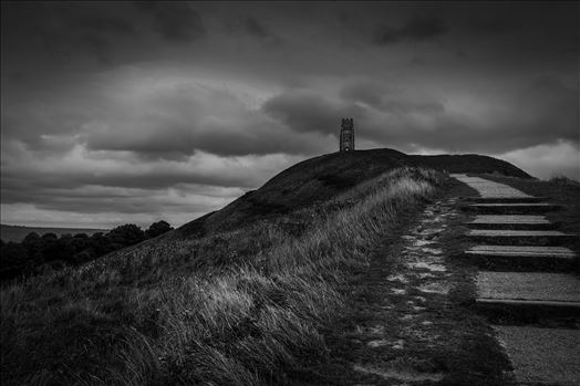 Up To The Tor - A trip to Glastonbury Abbey and the famous Tor. Walking up towards the Tor from Glastonbury brings you to the meandering 'stairway steps' that wrap their way round the mound to make your way to the Tor and the magnificent views from the top. 24/09/2016